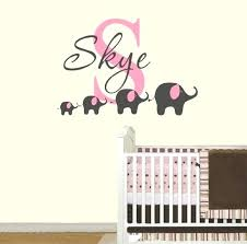 elephant wall decal 4 custom name removable nursery decals vinyl stickers for baby kids room decoration elephant wall decal