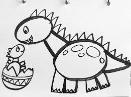 Small Picture Tutorial How to draw a dinosaur for kids This is a simple lesson