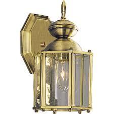 progress lighting p5756 10 wall lantern with beveled glass panels open bottom polished brass wall porch lights com