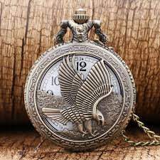 engraved pocket watches promotion shop for promotional engraved vintage jewelry antique hollow bronze eagle carving engraved pocket watch necklace pendant gift for men and women