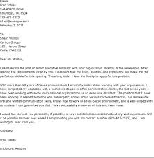 Sample Senior Executive Assistant Cover Letter Best Cover Letter One