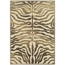 zebra area rug. Linden Zebra Brown Area Rug A