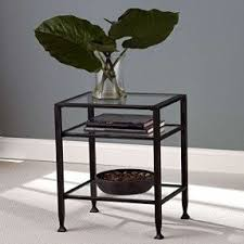 metal and glass nightstand. brilliant and black metal end table glass top and shelf accent nightstand bed with o