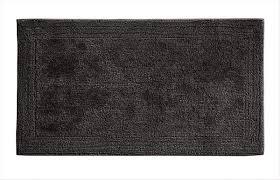 grund certified 100 organic cotton reversible bath mat puro series 24 inch by 60 inch graphite
