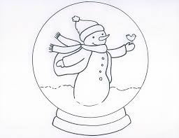 Small Picture Snowman with Snow Globe Coloring Page Snow Globes Pinterest