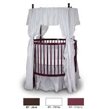 Amazon.com : Angel Line Traditional Round Crib, Cherry : Round Baby ...