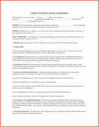 Standard Confidentiality Agreement Confidentiality Agreement Template Word Unique Sample Non Disclosure 9