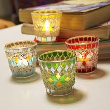 mosaic glass candle holder whole unique candle holders wine glass candle holder factory