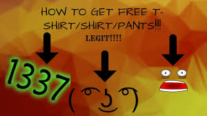 How To Get Free Pants On Roblox How To Get Free T Shirts Shirts Pants Roblox Tutorial Youtube