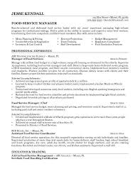 Food Service Manager Resume Amazing Food Service Manager Resume Trenutno