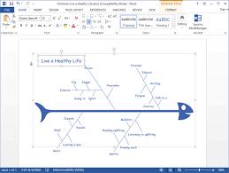 Word Photo Maker Create Fishbone Diagram For Word