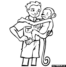 zookeeper coloring page.  Coloring Inside Zookeeper Coloring Page E