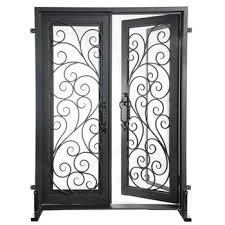 glass double door exterior. Get Quotations · DRM Store With Best Iron Doors Double Door DSD-001 Exterior Clear Glass