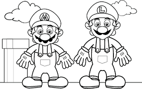 Coloring Pages Mario Luigi Coloring Pages Paper Page To Print