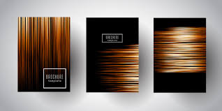 Stripe Templates Brochure Templates With Gold Stripe Designs Vector Free Download
