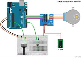 arduino 28 byj48 unipolar stepper motor control circuit