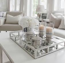 Decorating An Ottoman With Tray Furniture What To Put On A Coffee Table Decor Pinterest Glass 44