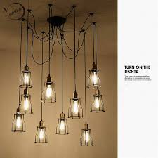 beautiful diy colourful spider chandelier lamp lights led retro spider for custom chandelier