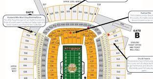 Pittsburgh Heinz Field Seating Chart Judgmental Seating Chart Of Heinz Field