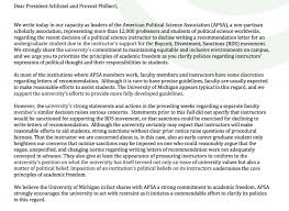 faculty letter of recommendation professional institutions caution against sanctions in