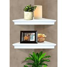 details about floating corner wall shelf shelves storage rack home decor furniture modern
