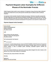 payment request letter to client follow up letter template 9 free sample example format