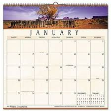 At A Glance Organizer At A Glance 88200 Landscape Monthly Wall Calendar 12 X 12 2020