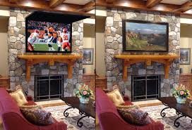 hide tv tvcoverups frame tv mirror art football