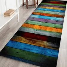 colorful stripe c velvet large area rug w24 inch l71 inch