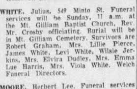 Death of Julius White - May 1965 - Newspapers.com