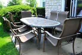 stone top patio table oval stone top patio table and six chairs travertine stone top patio