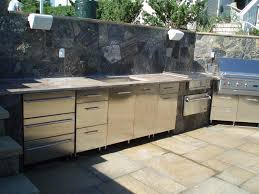 Make Stainless Steel Countertop Kitchen Silver Metal Cabinets With Grey Countertop With Stone
