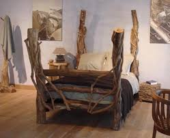 unique wood furniture designs. Artistic Wood Pieces Design \u2013 Rustic Wooden Furniture By SDA Decorations Unique Bed (01 Designs