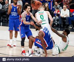 ISTANBUL / TURKEY - FEBRUARY 7, 2020: Shane Larkin and Chris Singleton  during EuroLeague 2019-20 Round 24 basketball game between Anadolu Efes and  Zalgiris Kaunas at Sinan Erdem Dome Stock Photo - Alamy