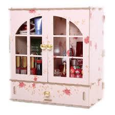 ... HOYOFO Large Wood Makeup Storage Cabinet Women's Cosmetic Desk Organizer  Box Tidy Storage Rack - B01LZ79OQI ...