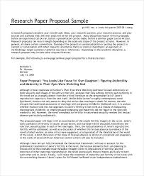 research paper proposal sample 36 simple proposal formats examples pdf doc pages examples