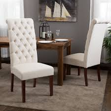 Amazoncom Best Selling Natural Tall Tufted Dining Chair Pack - Leaky faucet bathroolearn leather dining room chairs on sale