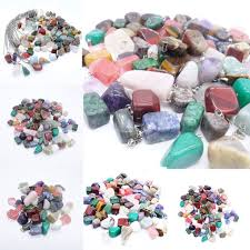 5 mixed teardrop natural crystal gemstone pendants jewellery making job lots