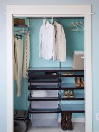 help a small closet more by installing a wire closet system rubber coated wire shelving is available from a variety of retaileranufacturers