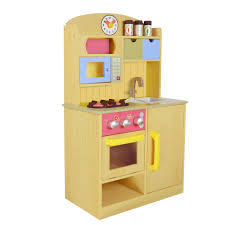 Yellow Accessories For Kitchen Teamson Kids Little Chef Wooden Play Kitchen With Accessories