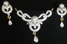 american diamond mangalsutra set ping for pendants by skg craftsvilla