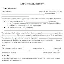 Sample Sublease Agreement Sublease Agreement Template Commercial Sublease Agreement