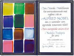 european union eu nobel diploma
