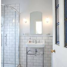 white brick tile interior walls style tiles with grey grout