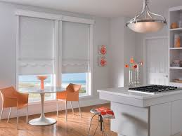 white fabric roll shades in kitchen from graber id gds0802 rn110909ca