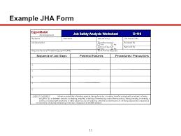 Job Hazard Analysis Worksheet Job Safety Analysis Template Free Job Hazard Analysis Form Template