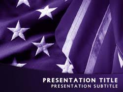 Royalty Free Patriotism Usa Flag Powerpoint Template In Purple
