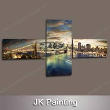 3 panel unframed canvas art manhattan brooklyn bridge painting for sale online china supplier wall art paintings for living room on 3 panel wall art canvas with 3 panel unframed canvas art manhattan brooklyn bridge painting for