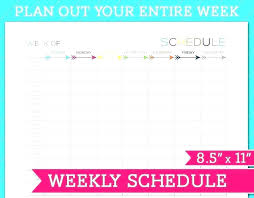 Online Weekly Planner Maker Free Employee Weekly Schedule Template Beriberi Co Online