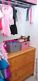 next to the dresser hangs all of her dress up costumes they are on a closet doubler rod kind of like this one but i got mine at target and it hangs